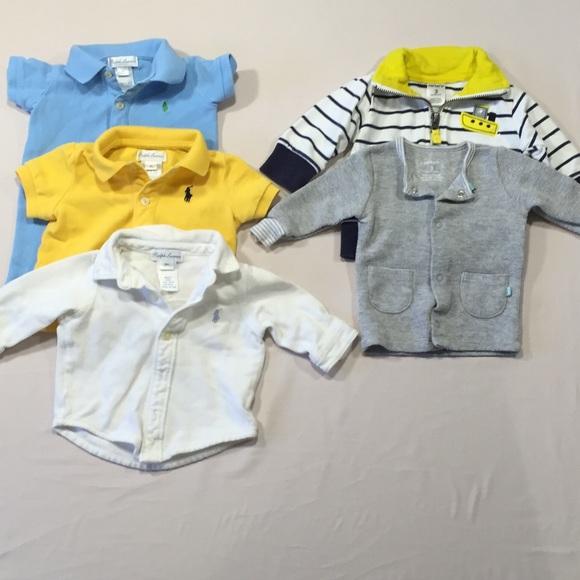 4fcf537a Bundle of 5 Baby Boy Tops Ralph Lauren & Carters