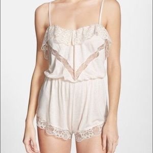 Anthropologie Lace Trim Romper• By Eberjey