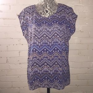 NWOT STITCH FIX SKIES ARE BLUE BLOUSE w/Cut Outs