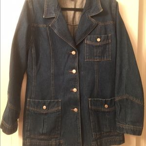 denim & co Jackets & Blazers - jean jacket sz L make offer