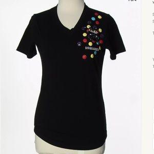 DSQUARED Tops - DSQUARED2 black v neck nwt Sz medium