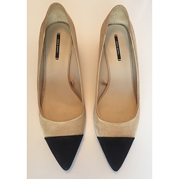 d623182b99a ZARA MID-HEEL SHOES WITH CONTRASTING TOE CAP 41