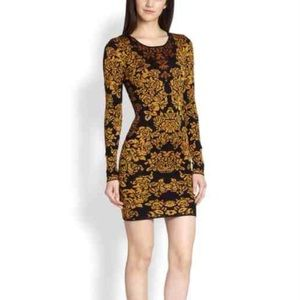 Torn by Ronny Kobo Dresses & Skirts - Torn By Ronny Kobo Gold and Black Dress
