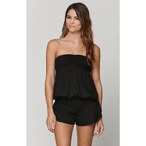Forever 21 Other - Romper Solid Black Strapless Swim Cover Up