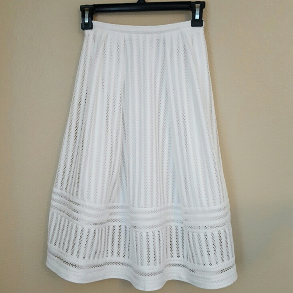 63 h m dresses skirts h m white a line pleated