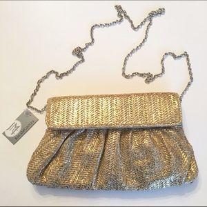 Jessica McClintock Handbags - NWT - Jessica McClintock metallic straw mini bag