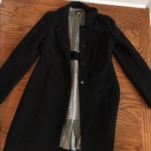 JCrew black coat size 4