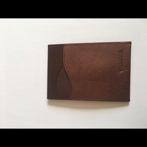 Cole Haan Men's Brown Leather Card Case