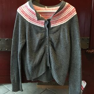 Free People Sz L buttoned sweater