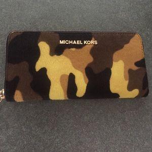 Michael Kors Handbags - Acid Yellow Michael Kors Camouflage Wallet