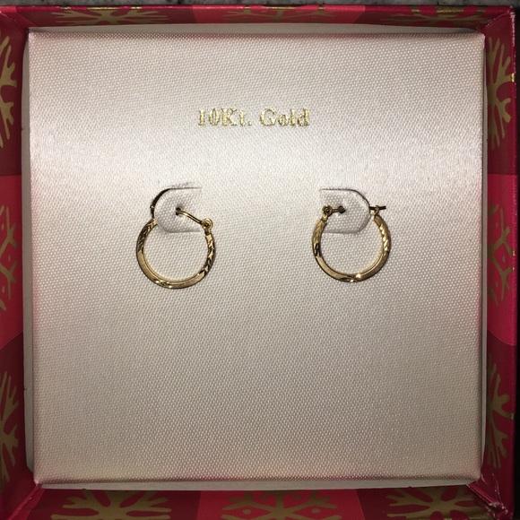 Kohl S Jewelry 10kt Gold Hoop Earrings Nwt Poshmark