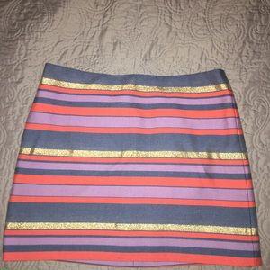 J. Crew Striped Skirt