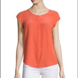 Joie Iva cap Sleeve silk shirt