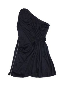 Iro- Black One Shoulder Side Detail Dress Sz 3
