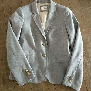 J Crew Schoolboy Blazer Wool Gray 6