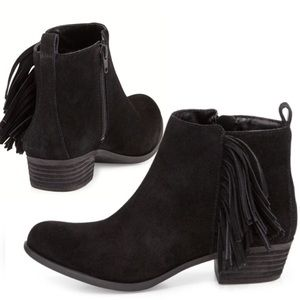 ⌛️SALE⏳Vince Camuto Fringe/Suede Ankle Boots