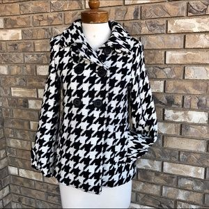 Express Jackets & Blazers - Express Wool Houndstooth Pea Coat XS