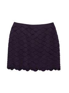 Reiss-  Plum Tiered Scallop Mini Skirt Sz 10