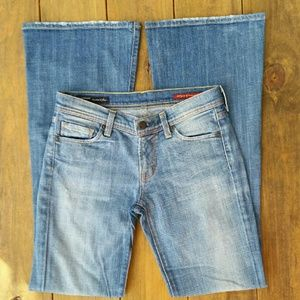 Citizens of Humanity Denim - COH Ingrid #002 Stretch Low Waist Flair Blue Jeans