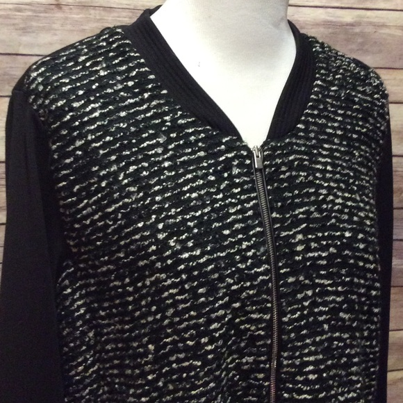 new directions - Black tweed baseball jacket from Teresa's closet ...
