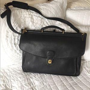 Coach Unisex vintage leather briefcase