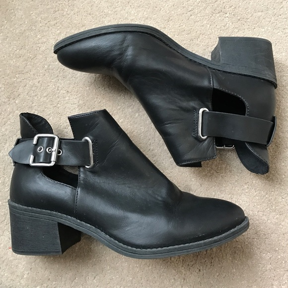 59% off Divided Shoes - H&M black ankle boots with buckle from ...