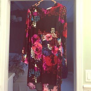 WAYF XS high/low floral dress