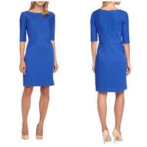 Tahari Dresses & Skirts - Tahari ASL Blue Stretch Textured Dress