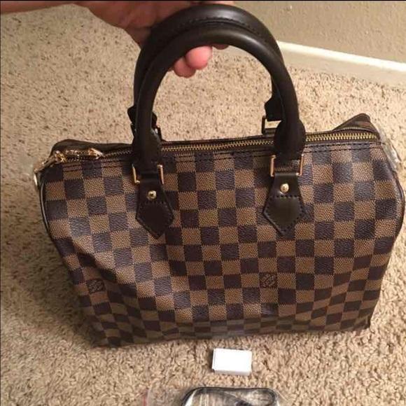 d49cc4f0263 Fashion LV Damier Ebene Canvas Speedy 30 Bag