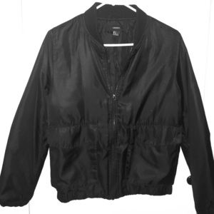 Black Bomber Jacket with Side Pockets