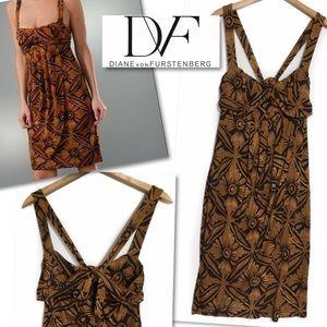 Diane von Furstenberg Dresses & Skirts - DIANE VON FURSTENBERG DVF SILK TIED PLEATED DRESS