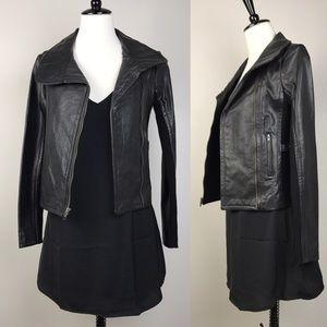 BCBGMaxAzria Jackets & Blazers - NWT BCBGMAXAZRIA Black leather moto jacket
