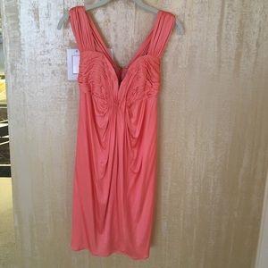 FOLEY silk corset dress