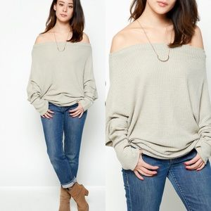 Tops - Off The Shoulder Sweater Top- THYME