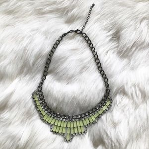 Jewelmint Jewelry - Neon Green Yellow Stone Statement Necklace