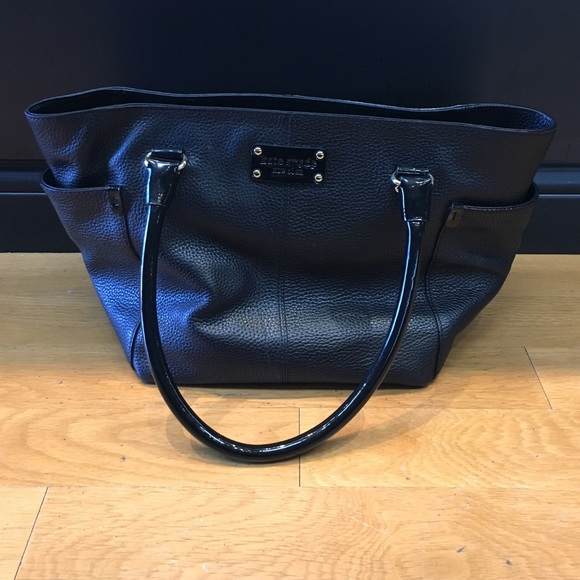 6cf27b7181 kate spade Bags | Black Pebbled Leather Tote Purse Bag | Poshmark