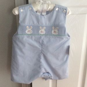 Edgehill Collection Other - 3 mos.  Smocked boys Bunny/ Easter romper