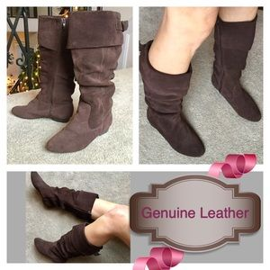 """Wanted Shoes - FINAL PRICE-Genuine Leather """"Merry"""" Cuff Boot"""
