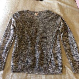 Mossimo Black, White, Gray Sweater