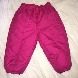 Infant North Face reversible Perrito pants