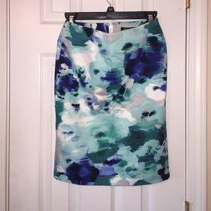 White House Black Market Watercolor Pencil Skirt