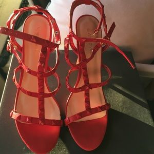 Shoes - ❣️(2/$12) Red studded sandals