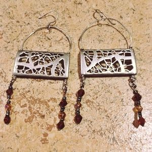Jewelry - Upcycled Silver Statement Earrings