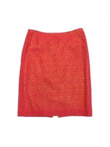 Cynthia Steffe- Coral & Green Floral Crochet Skirt Sz 4