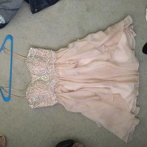 Nude homecoming dress