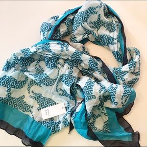 Crown and Ivy Accessories - NWT - Blue alligator scarf