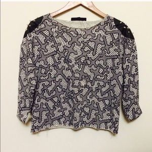 Topshop Sweaters - Topshop crosses and spikes top