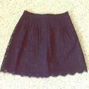 J. Crew Dresses & Skirts - JCREW Lace Navy Skirt