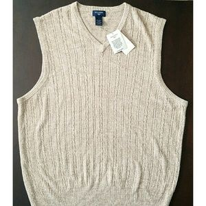 Dockers Other - NWT Dockers Extra Soft Beige Cable Sweater Vest