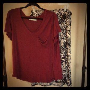 🎉 Black and white palm print side slit skirt 2XL